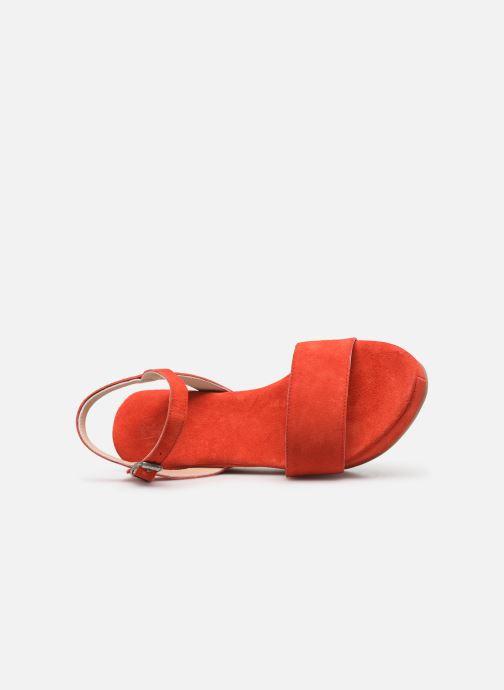 Sandales et nu-pieds Khrio 11088 Orange vue gauche