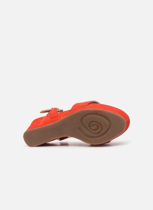 Sandales et nu-pieds Khrio 11088 Orange vue haut