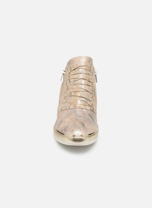 Baskets Khrio Funiba Or et bronze vue portées chaussures