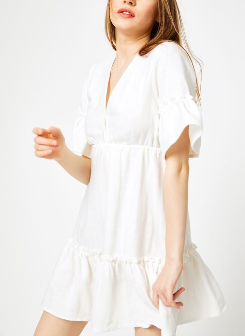 Ropa Billabong Sincerely Jules x Billabong - Lovers wish dress Blanco vista de detalle / par