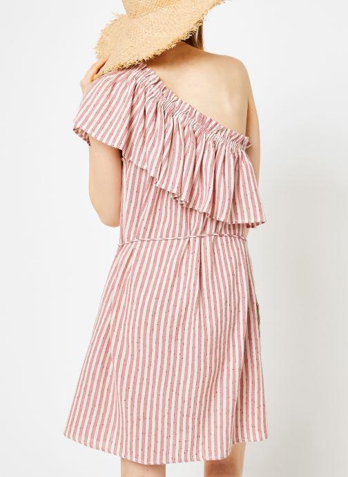 Vêtements Billabong Sincerely Jules x Billabong - Right minded dress Rouge vue portées chaussures