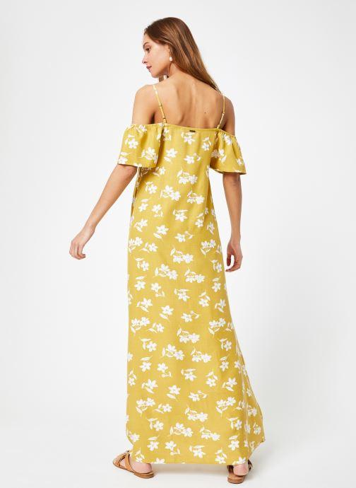 Vêtements Billabong Sincerely Jules x Billabong - Shoulder sway dress Jaune vue portées chaussures