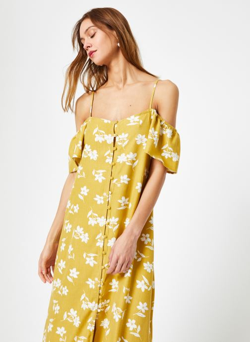 Vêtements Billabong Sincerely Jules x Billabong - Shoulder sway dress Jaune vue droite