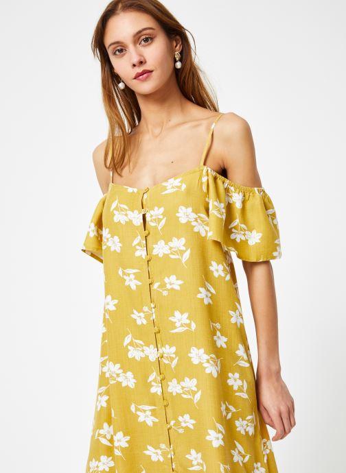 Vêtements Billabong Sincerely Jules x Billabong - Shoulder sway dress Jaune vue détail/paire