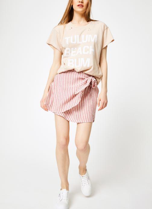Vêtements Billabong Sincerely Jules x Billabong - Perfect boy t-shirt Rose vue bas / vue portée sac