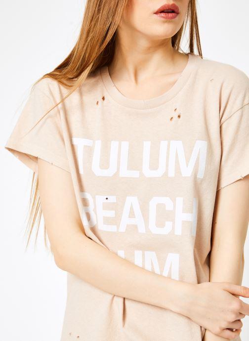 Vêtements Billabong Sincerely Jules x Billabong - Perfect boy t-shirt Rose vue face
