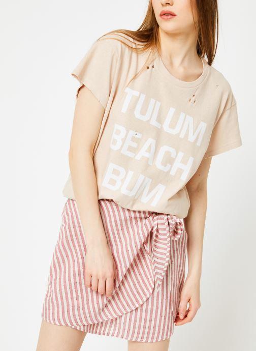 Vêtements Billabong Sincerely Jules x Billabong - Perfect boy t-shirt Rose vue droite