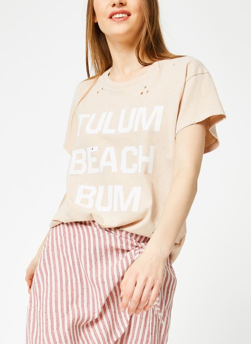 Vêtements Billabong Sincerely Jules x Billabong - Perfect boy t-shirt Rose vue détail/paire