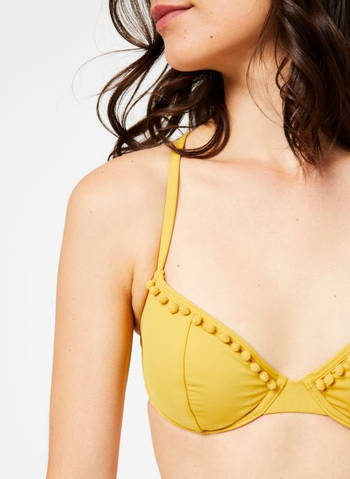 Vêtements Billabong Sincerely Jules x Billabong - Last sun underwire top Jaune vue face