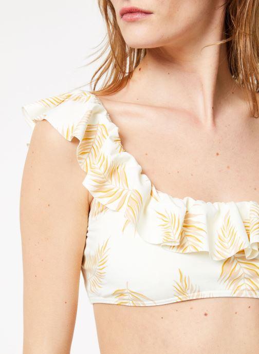 Vêtements Billabong Sincerely Jules x Billabong - Dos palmas ruffle top Blanc vue face