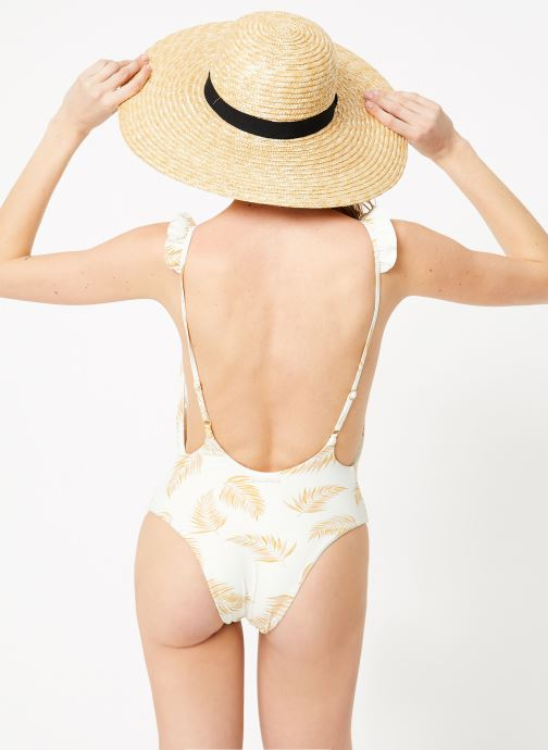 Vêtements Billabong Sincerely Jules x Billabong - Dos palmas one piece Blanc vue portées chaussures