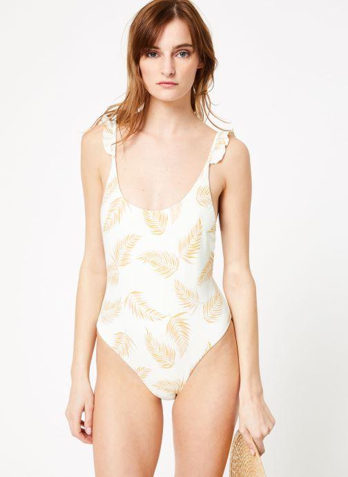 Vêtements Billabong Sincerely Jules x Billabong - Dos palmas one piece Blanc vue droite