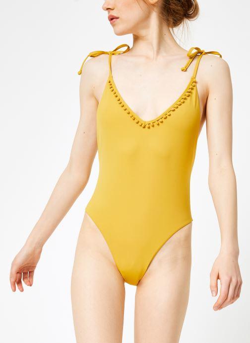 Vêtements Billabong Sincerely Jules x Billabong - Last sun one piece Jaune vue droite