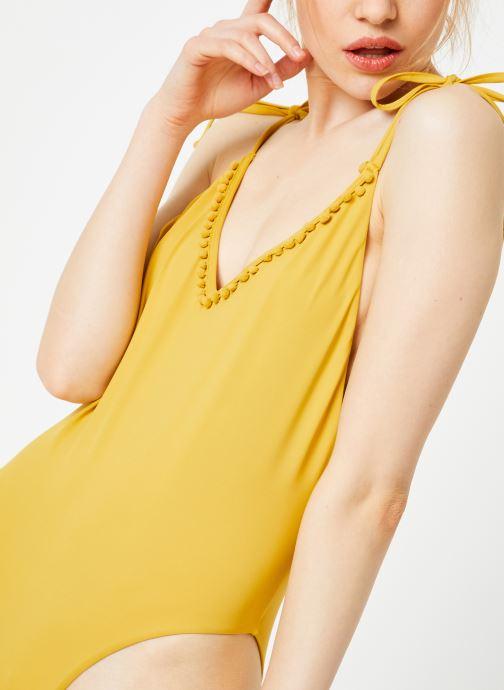 Vêtements Billabong Sincerely Jules x Billabong - Last sun one piece Jaune vue détail/paire