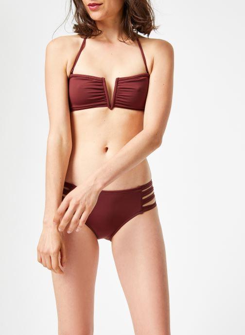 Vêtements Seafolly Active V Wire bandeau Violet vue droite