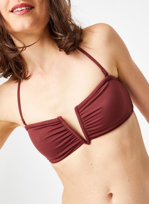 Vêtements Seafolly Active V Wire bandeau Violet vue détail/paire
