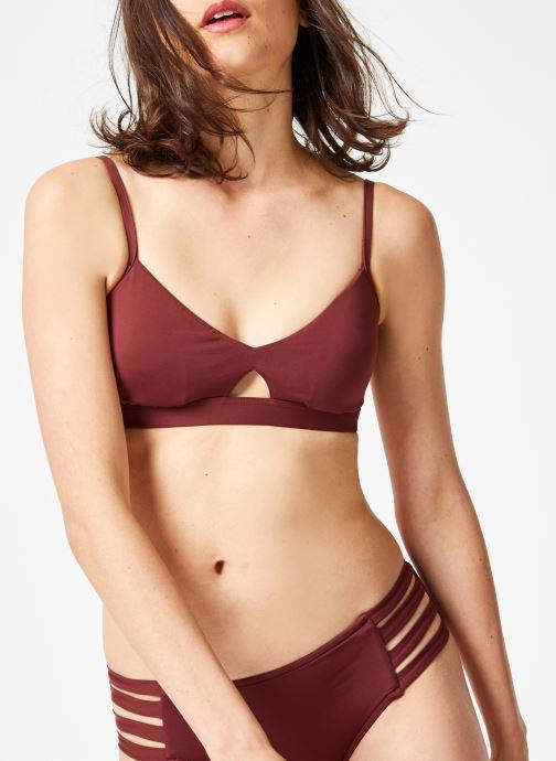 Vêtements Seafolly Active Hybrid Bralette Violet vue détail/paire
