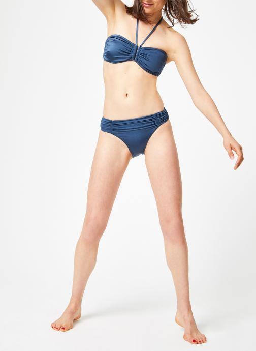 Vêtements Seafolly SHINE ON GATHERED FRONT RETRO Bleu vue bas / vue portée sac