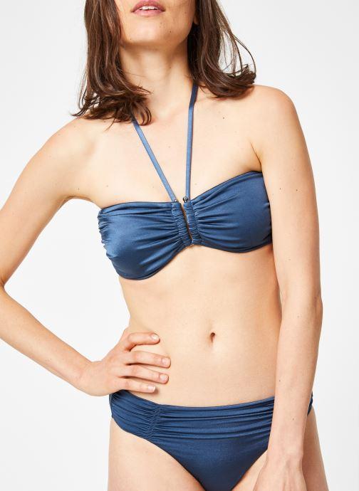 Vêtements Seafolly SHINE ON GATHERED FRONT RETRO Bleu vue détail/paire