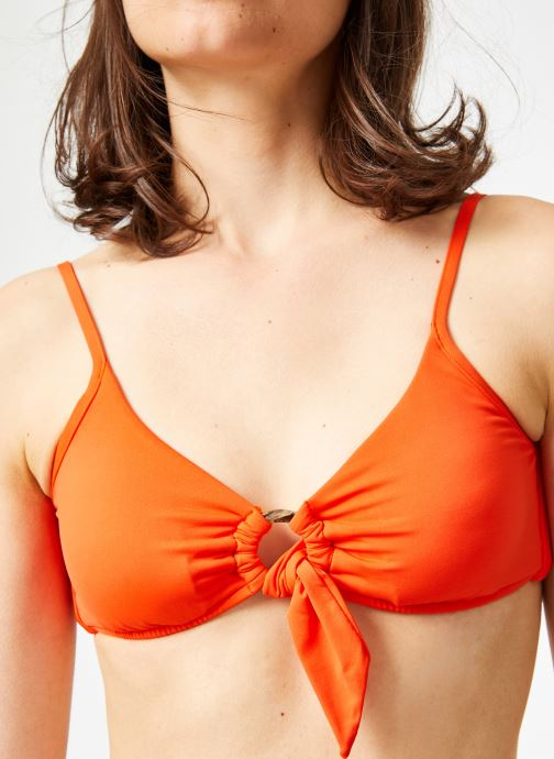 Vêtements Seafolly ACTIVE RING FRONT CROP TOP Orange vue face