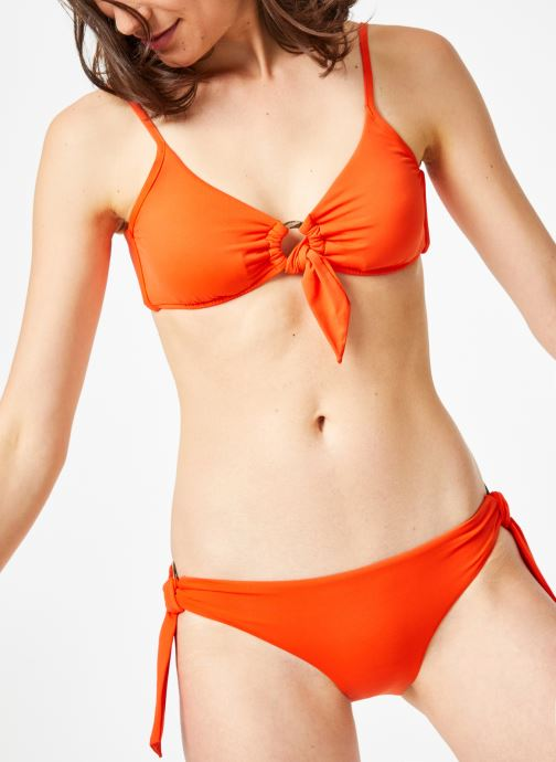 Vêtements Seafolly ACTIVE RING FRONT CROP TOP Orange vue détail/paire