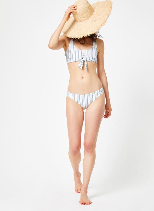Vêtements Seafolly SEA STRIPE TIE FRONT TANK Blanc vue bas / vue portée sac
