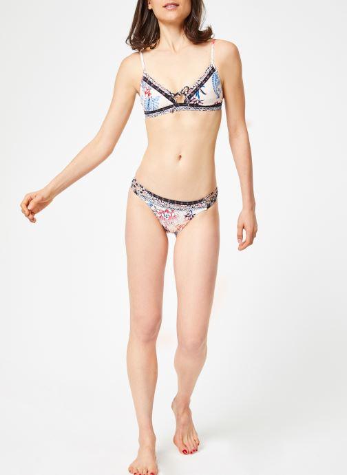 Vêtements Seafolly WATER GARDEN FIXED TRI BRA Rose vue bas / vue portée sac