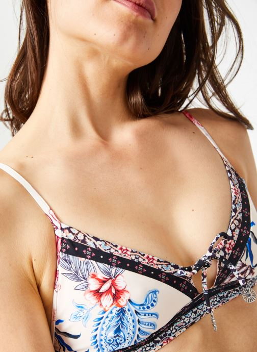 Vêtements Seafolly WATER GARDEN FIXED TRI BRA Rose vue face