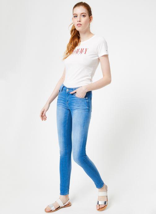 Vêtements Tommy Jeans MID RISE SKINNY NORA Bleu vue bas / vue portée sac