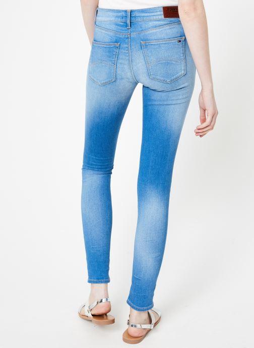 Vêtements Tommy Jeans MID RISE SKINNY NORA Bleu vue portées chaussures