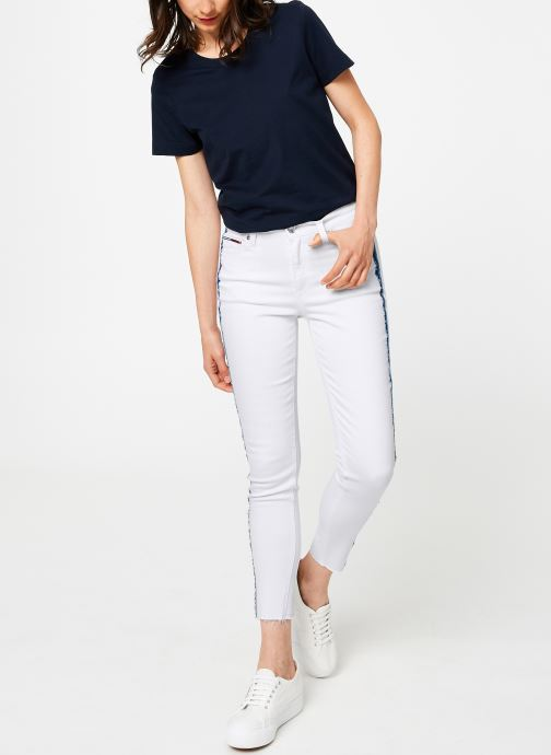 Kleding Tommy Jeans MID RISE SKINNY NORA Wit onder
