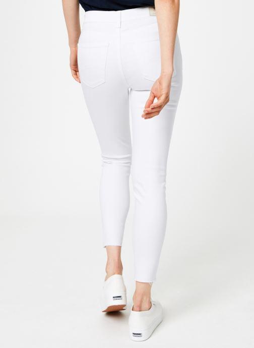 Vêtements Tommy Jeans MID RISE SKINNY NORA Blanc vue portées chaussures