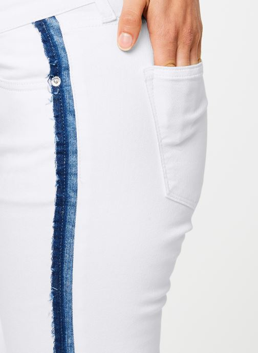 Kleding Tommy Jeans MID RISE SKINNY NORA Wit voorkant