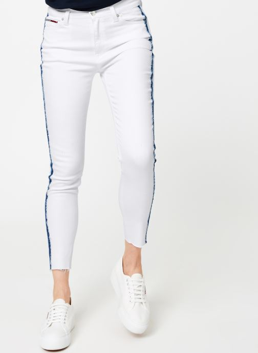 Kleding Tommy Jeans MID RISE SKINNY NORA Wit detail