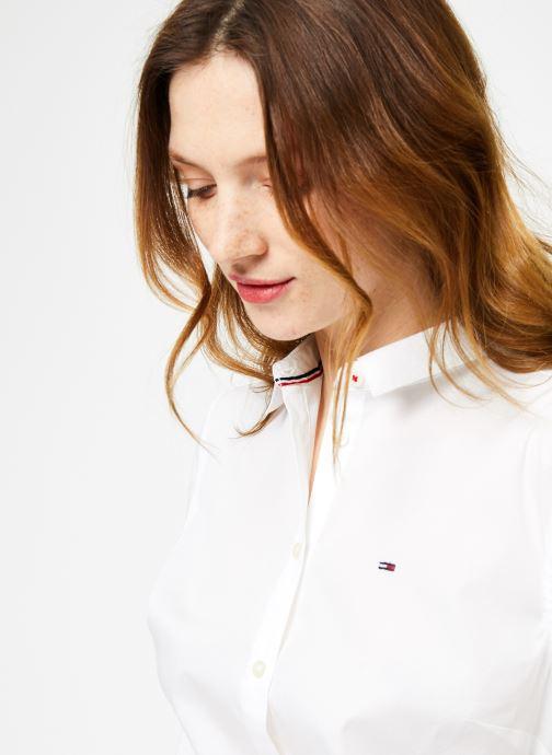 Vêtements Tommy Jeans TJW ORIGINAL STRETCH SHIRT Blanc vue face
