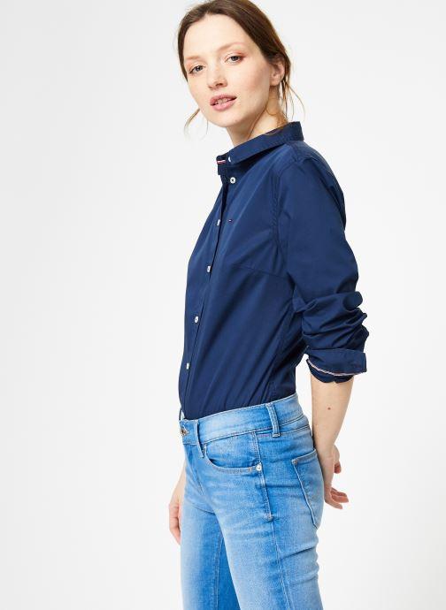 Vêtements Tommy Jeans TJW ORIGINAL STRETCH SHIRT Bleu vue droite