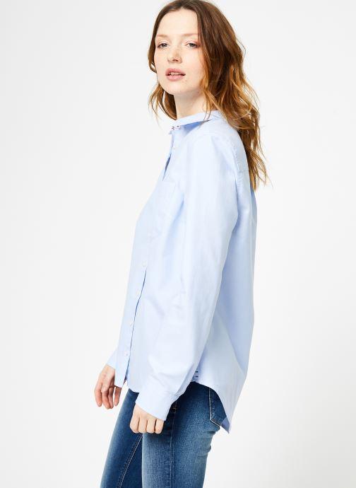Vêtements Tommy Jeans TJW ORIGINAL LIGHT OXFORD SHIRT Bleu vue droite