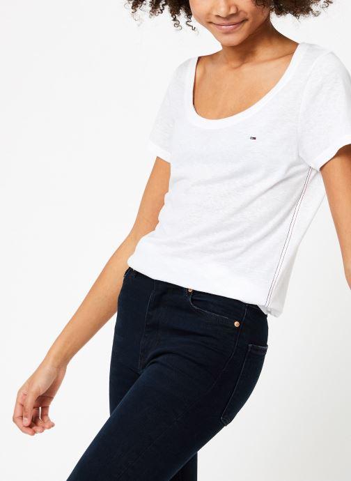 Vêtements Tommy Jeans TJW ORIGINAL TRIBLEND TEE Blanc vue droite