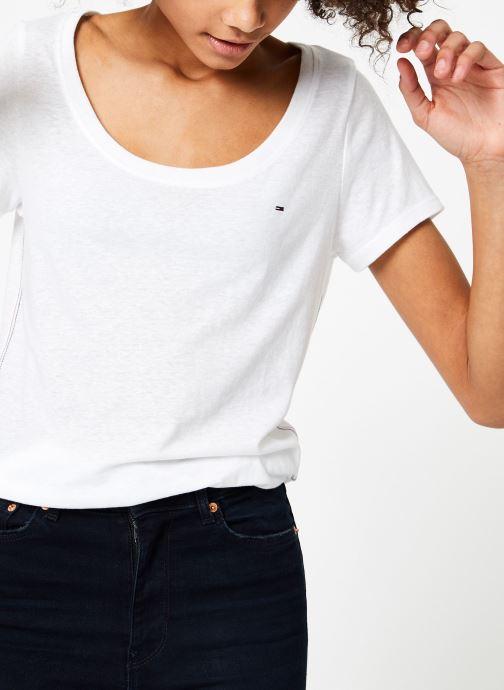 Vêtements Tommy Jeans TJW ORIGINAL TRIBLEND TEE Blanc vue détail/paire