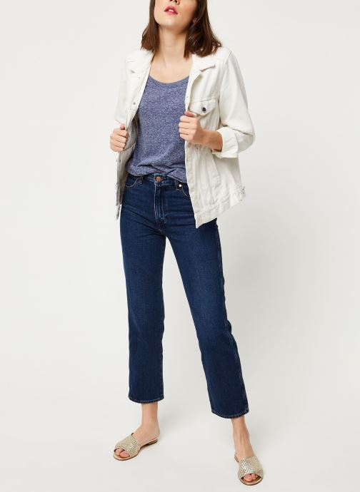Vêtements Tommy Jeans TJW ORIGINAL TRIBLEND TEE Bleu vue bas / vue portée sac