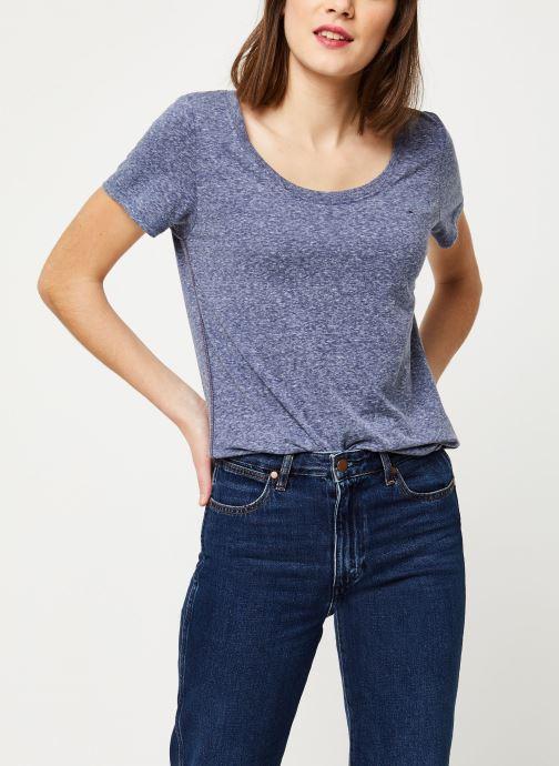 Vêtements Tommy Jeans TJW ORIGINAL TRIBLEND TEE Bleu vue détail/paire