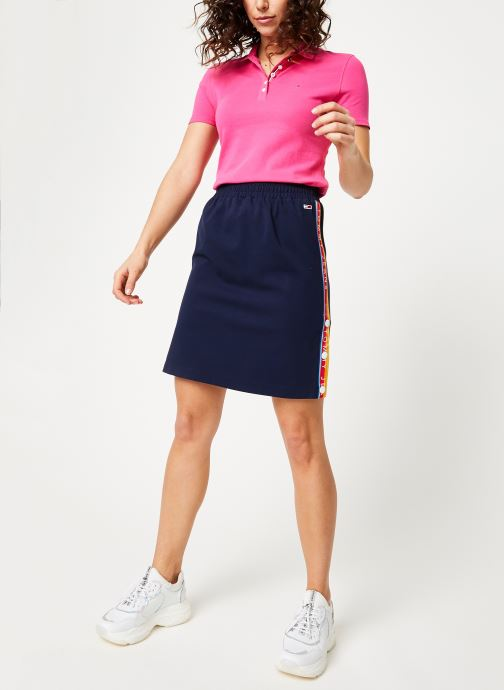 Kleding Tommy Jeans TJW ESSENTIAL POLO Roze onder