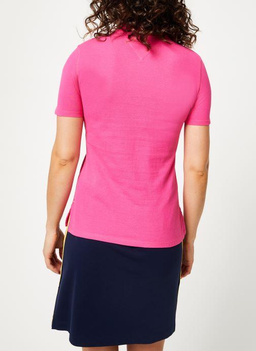Kleding Tommy Jeans TJW ESSENTIAL POLO Roze model