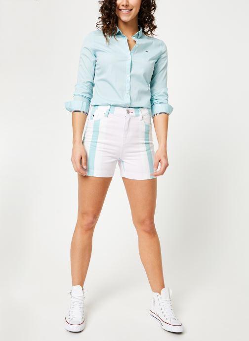 Tøj Tommy Jeans TJW SLIM FIT POPLIN SHIRT Blå se forneden