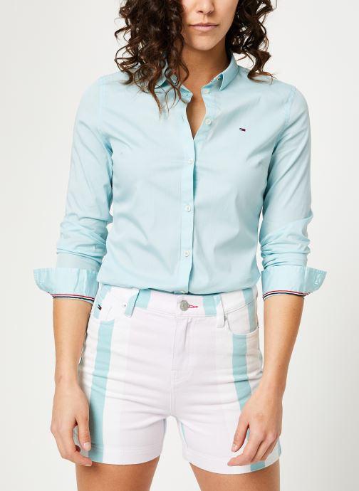 Tøj Tommy Jeans TJW SLIM FIT POPLIN SHIRT Blå Se fra højre