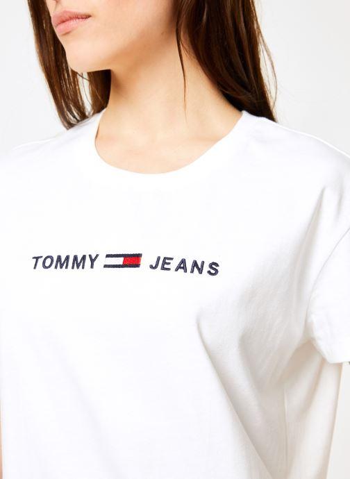 Kleding Tommy Jeans TJW CLEAN LINEAR LOGO TEE Wit voorkant