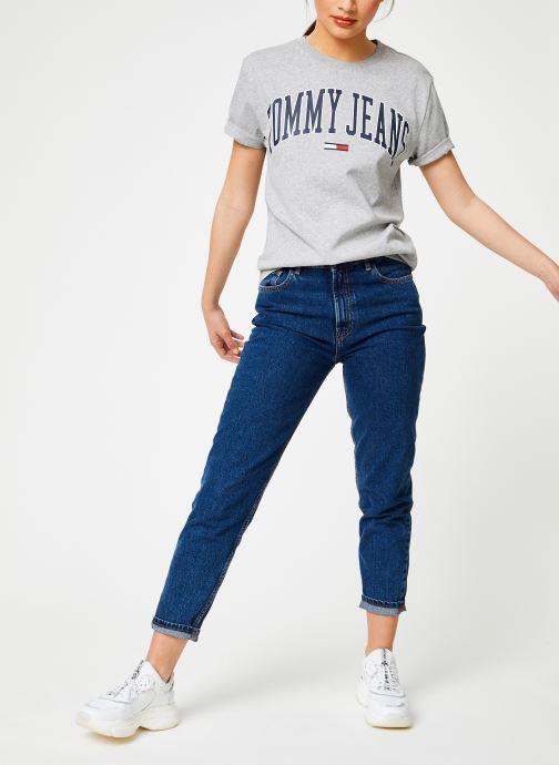 Kleding Tommy Jeans TJW COLLEGIATE LOGO TEE Grijs onder