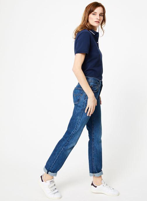 Vêtements Tommy Jeans TJW TOMMY CLASSICS POLO Bleu vue bas / vue portée sac
