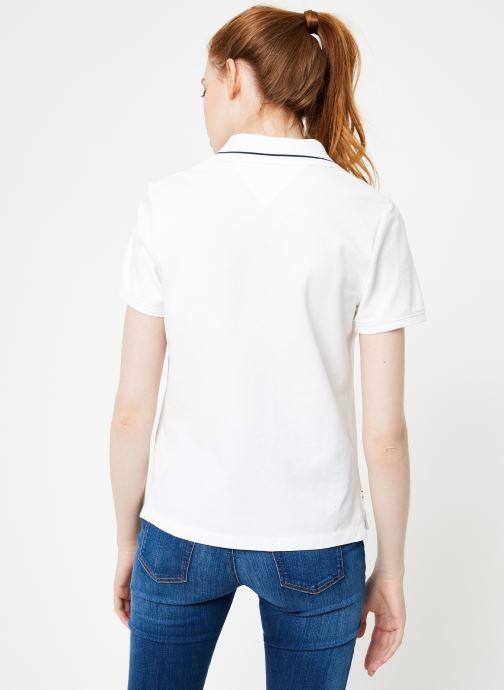Vêtements Tommy Jeans TJW TOMMY CLASSICS POLO Blanc vue portées chaussures