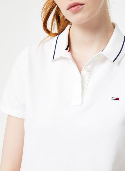Vêtements Tommy Jeans TJW TOMMY CLASSICS POLO Blanc vue face